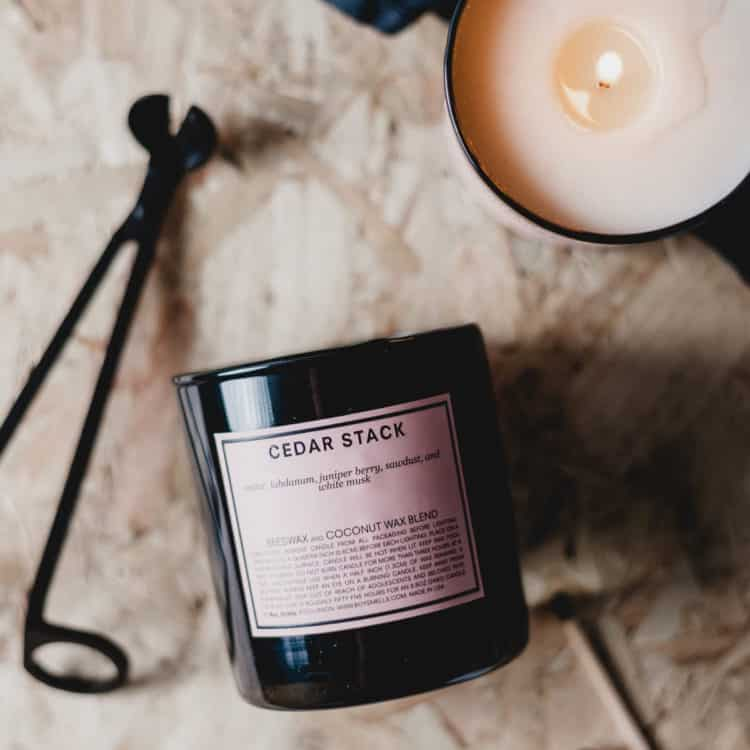Cedar Stack Scented Candle by Boy Smells