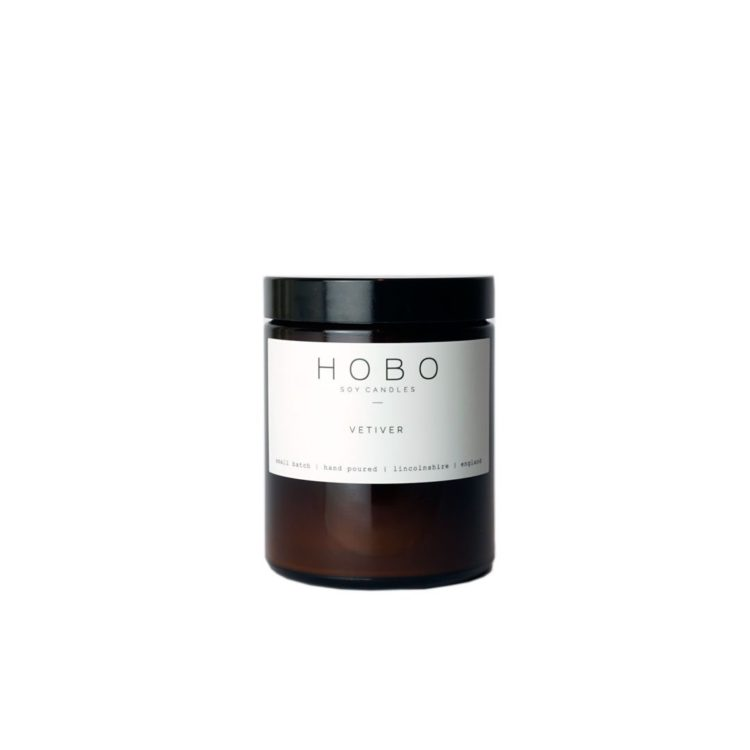 Vetiver Scented Candle by Hobo Soy Candles