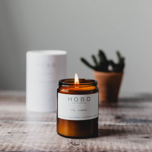Fig & Cassis Scented Candle by Hobo Soy Candles