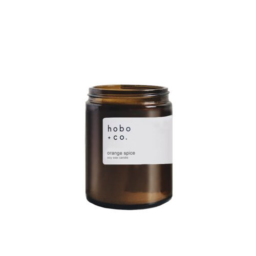 Orange Spice Scented Candle by Hobo Soy Candles
