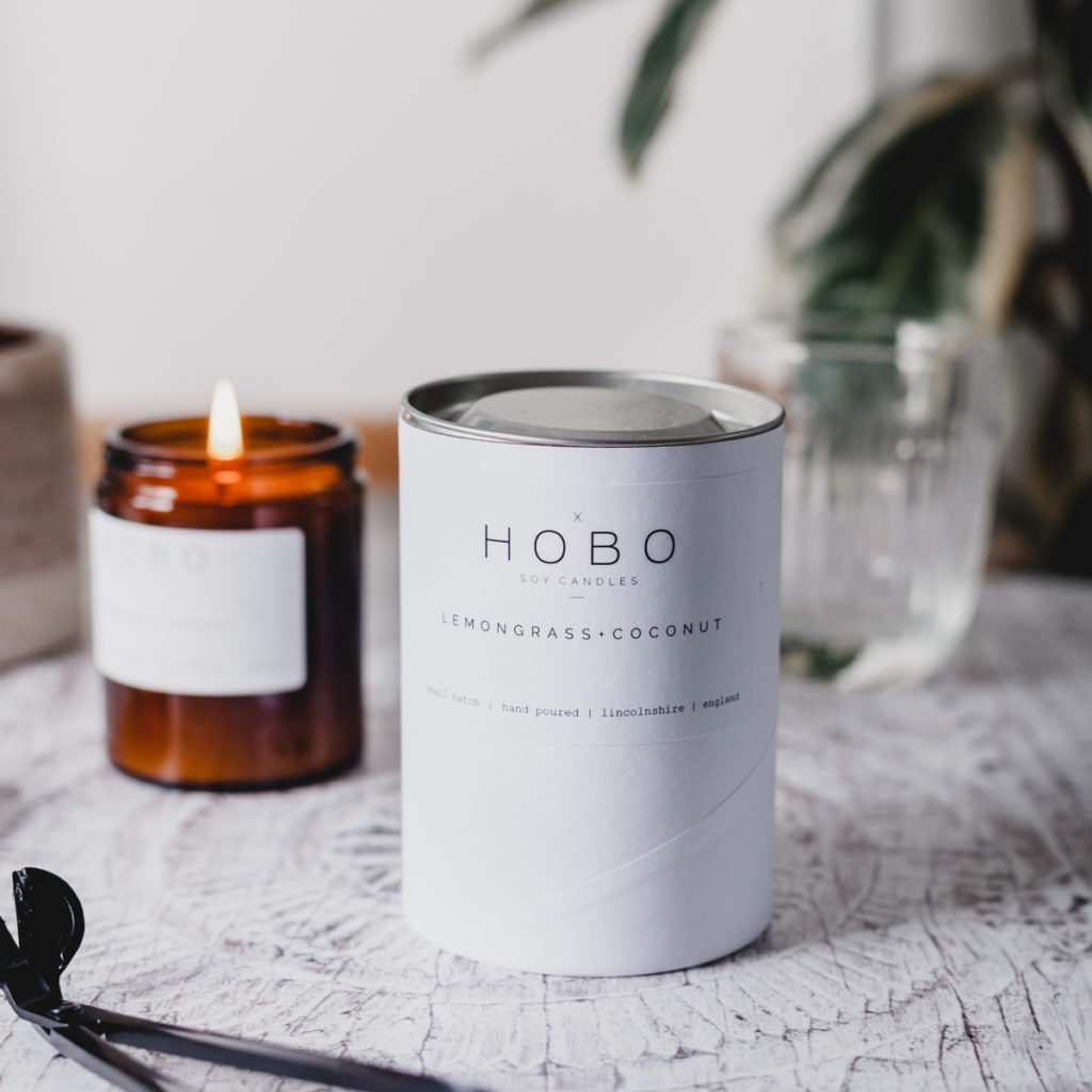 Lemongrass & Coconut Candle by Hobo Soy Candles