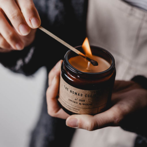 Smoke & Wood Candle by The Nomad Society