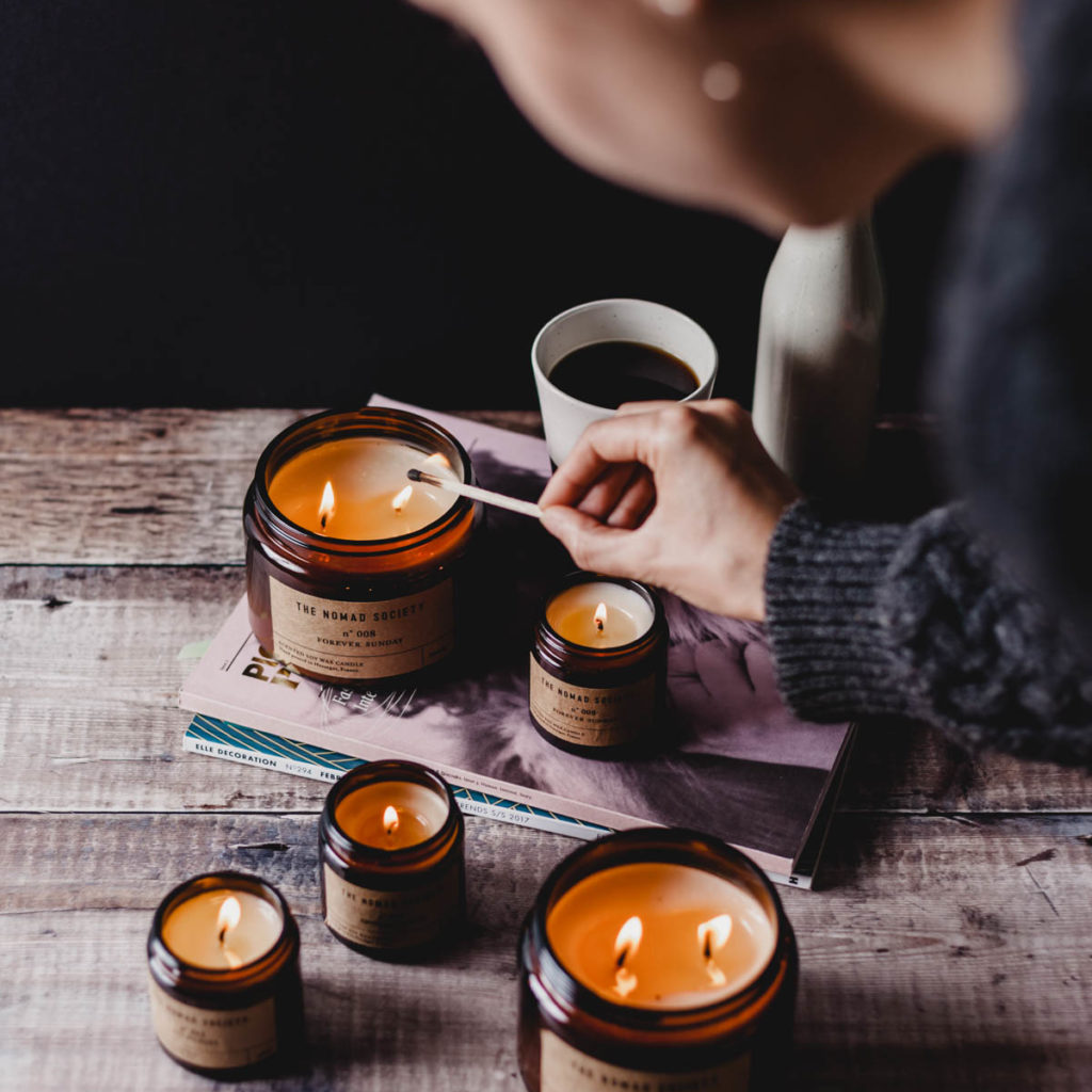 Smoke & Wood Candle by The Nomad Society -2