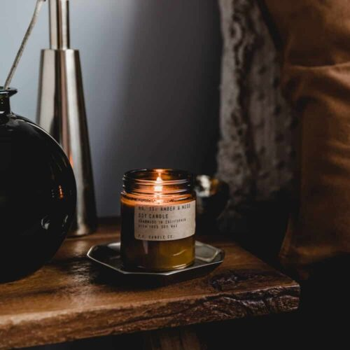 Amber & Moss Candle by P.F. Candle Co