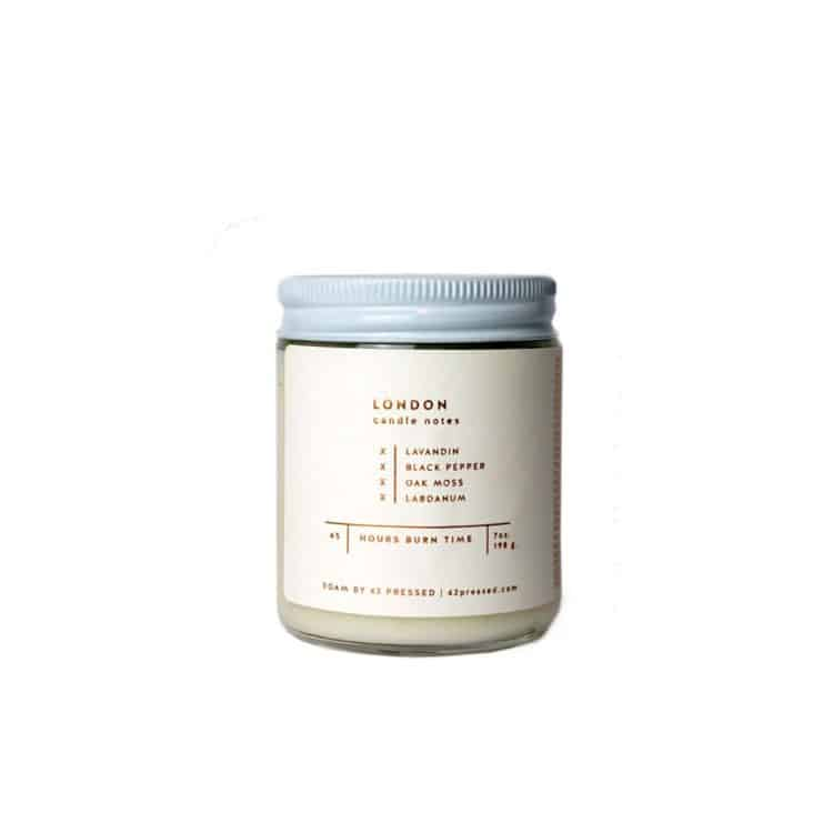 London Scented Candle by ROAM by 42 Pressed
