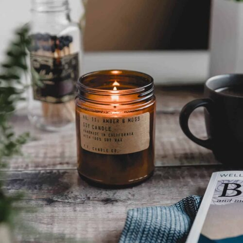 P.F. CANDLE CO. AMBER & MOSS SCENTED CANDLE