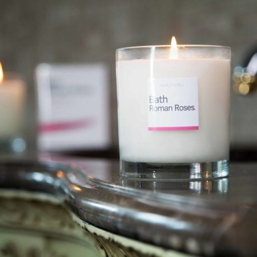 Bath Roman Roses Scented Candle by Scarlet & Nell