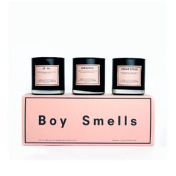 Redwood, Cedar Stack & St. Al Scented Candle Gift Set by Boy Smells
