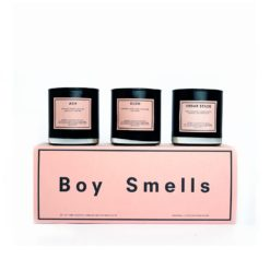 Kush, Ash, & Cedar Stack Scented Candle Gift Set by Boy Smells