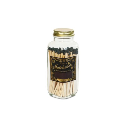 Black & Gold Vintage Match Bottle by Skeem