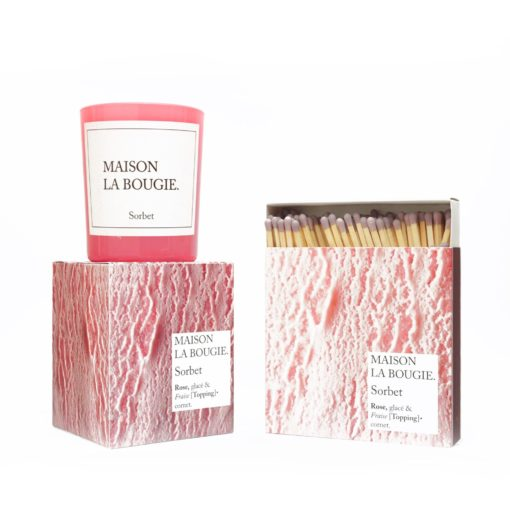 Sorbet Candle & Matches Set by Maison La Bougie | Available at Osmology