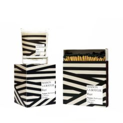 Rayé Candle & Matches Set by Maison La Bougie | Available at Osmology
