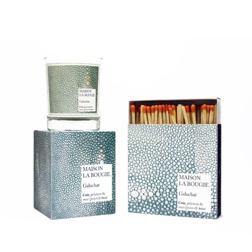 Galuchat Candle & Matches Set by Maison La Bougie | Available at Osmology