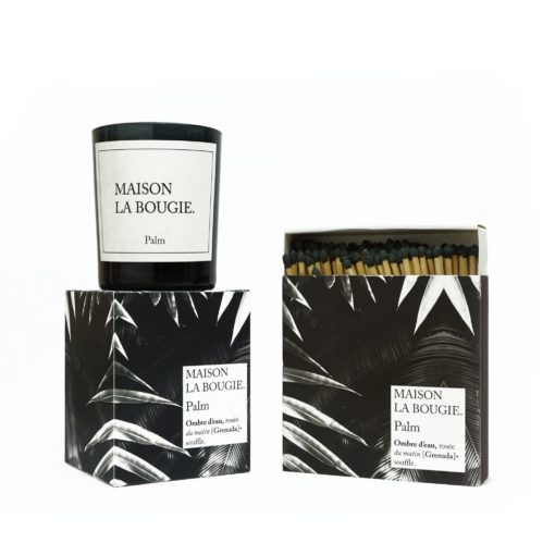 Palm Candle & Matches Set by Maison La Bougie | Available at Osmology