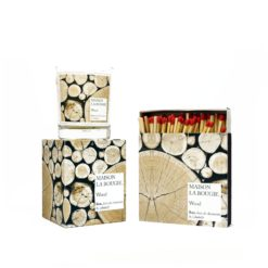Wood Candle & Matches Set by Maison La Bougie | Available at Osmology
