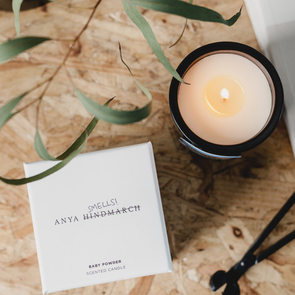 Baby Powder Candle by Anya Hindmarch