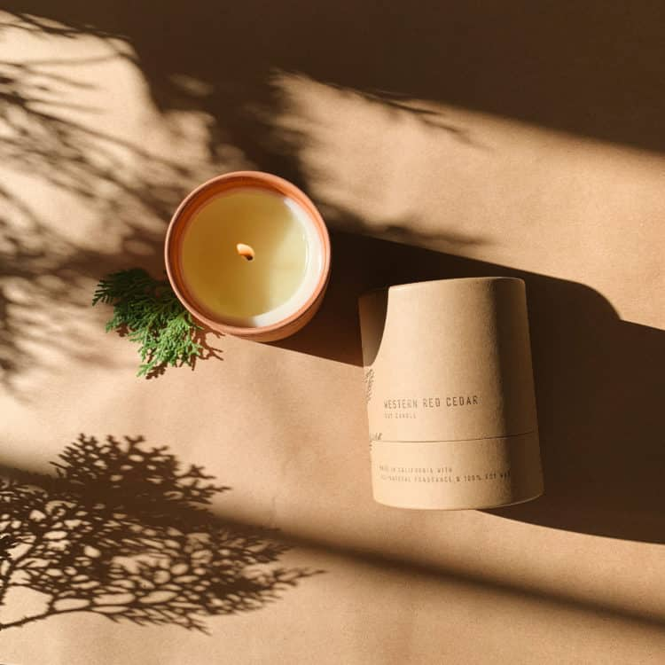 No. 07 Western Red Cedar Terra Candle by P.F. Candle Co.
