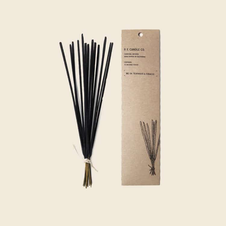 Teakwood & Tobacco Incense by P.F. Candle Co