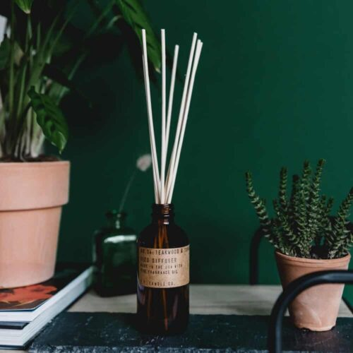 Teakwood & Tobacco Reed Diffuser by P.F. Candle Co