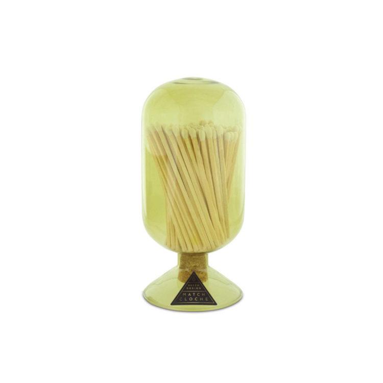 Moss Glass Matches Cloche by Skeem