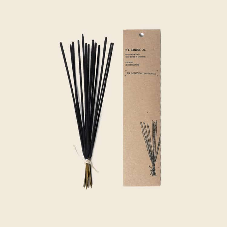 Patchouli Sweetgrass Incense by P.F. Candle Co.