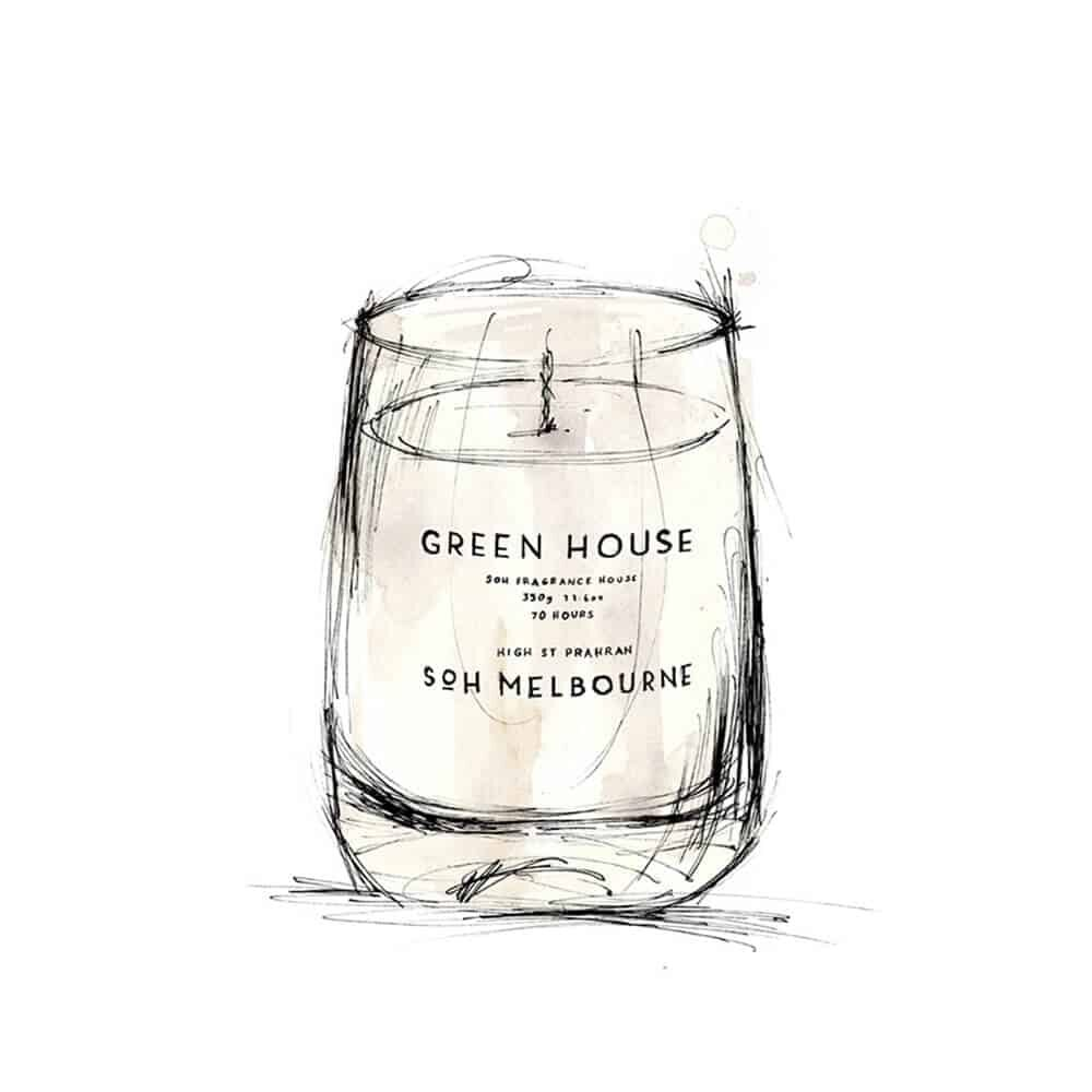Green House Scented Candle by SOH Melbourne